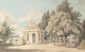 Paul Sandby - vista de rackett lodge , Wandsworth , De londres