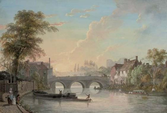 Vista de Tonbridge de Paul Sandby (1798-1863, United Kingdom)