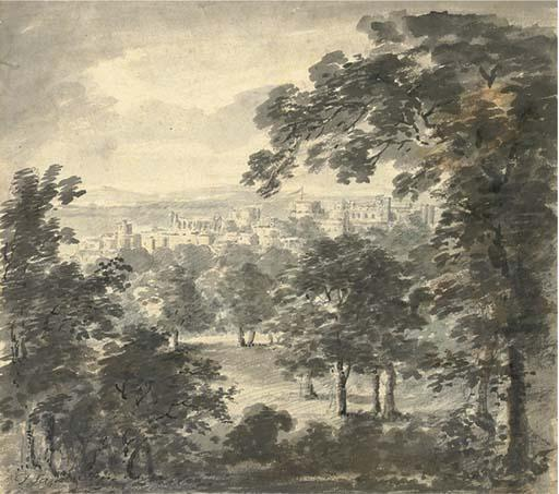 Castillo De Windsor de  el  gran  Parque  de Paul Sandby (1798-1863, United Kingdom)