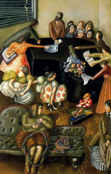 En el piano de Stanley Spencer (1891-1959, United Kingdom)