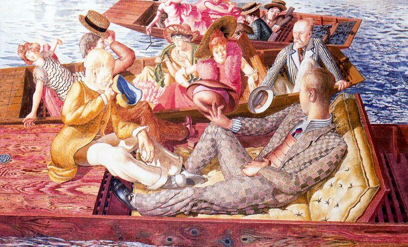 Predicar a Cristo en Cookham Regata Punts Reunión  de Stanley Spencer (1891-1959, United Kingdom)