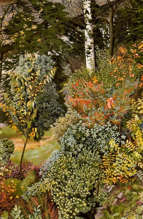 jardín escena . port glasgow de Stanley Spencer (1891-1959, United Kingdom) | ArtsDot.com