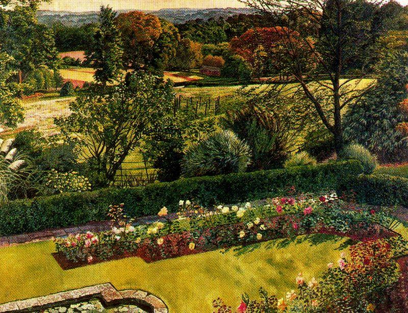 Paisaje. Cookham Dene de Stanley Spencer (1891-1959, United Kingdom) | ArtsDot.com