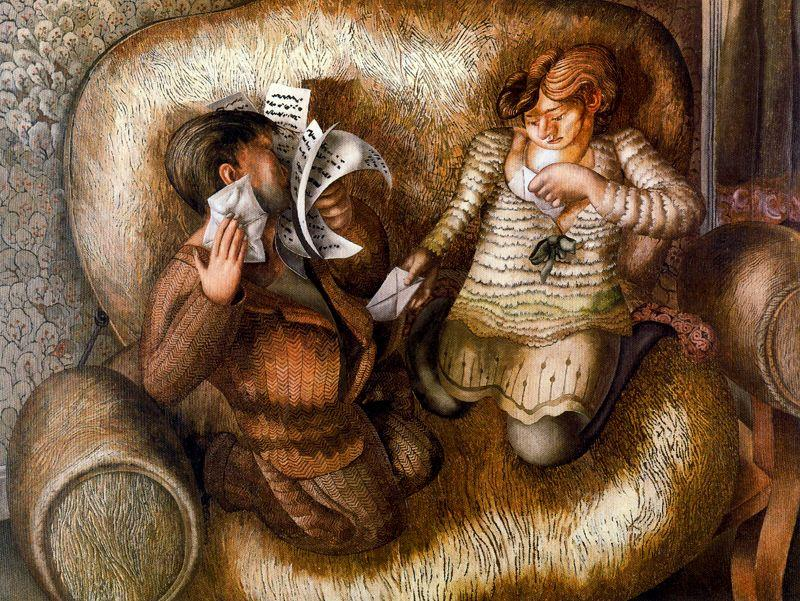 amor letras de Stanley Spencer (1891-1959, United Kingdom)