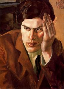 Stanley Spencer - Retrato de Richar Carline