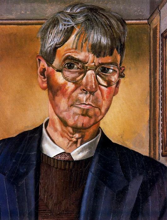 retrato del uno mismo de Stanley Spencer (1891-1959, United Kingdom)