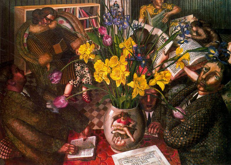 silencioso la oración de Stanley Spencer (1891-1959, United Kingdom)