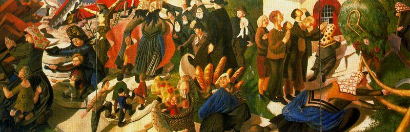 Recuerdo de Suiza de Stanley Spencer (1891-1959, United Kingdom)