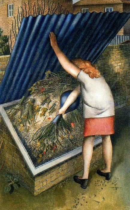 El Cubo de basura, Cookham de Stanley Spencer (1891-1959, United Kingdom)