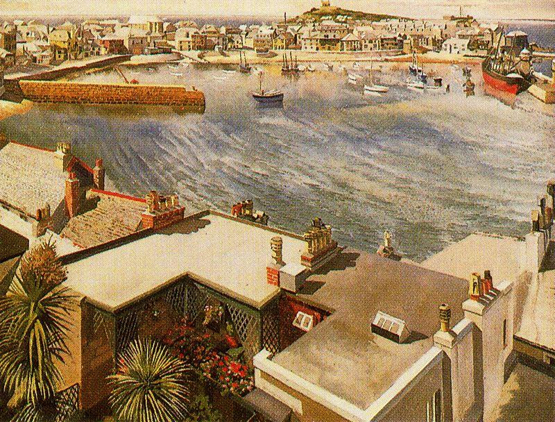 el puerto . st. ives de Stanley Spencer (1891-1959, United Kingdom)