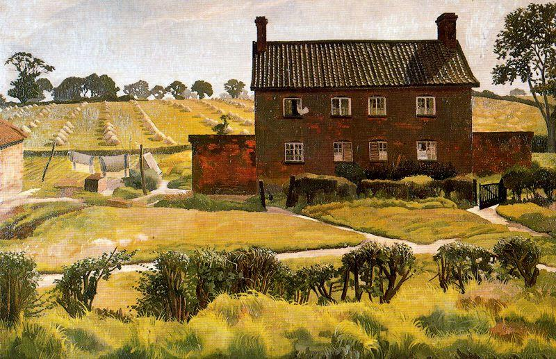 el rojo casa . Wangford de Stanley Spencer (1891-1959, United Kingdom)
