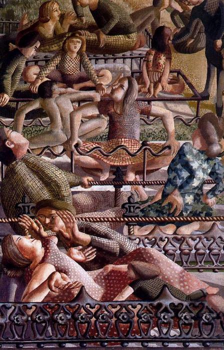 La Resurrección. Reunión de Stanley Spencer (1891-1959, United Kingdom)