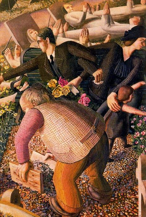 La Resurrección. Despertar 1 de Stanley Spencer (1891-1959, United Kingdom)