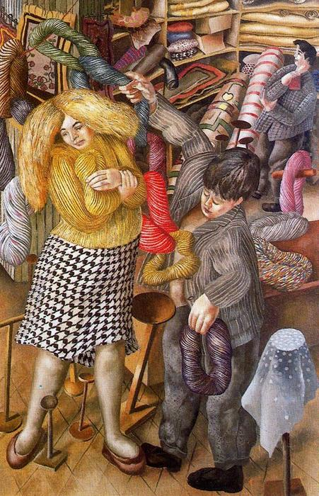 El Woolshop de Stanley Spencer (1891-1959, United Kingdom)