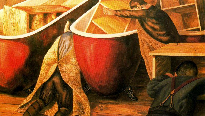 Taquillas de lavado de Stanley Spencer (1891-1959, United Kingdom)