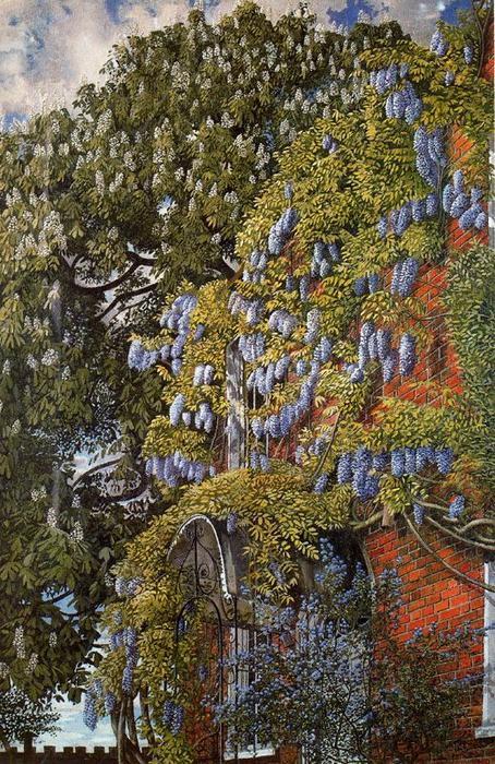 Wisteria en Englefield de Stanley Spencer (1891-1959, United Kingdom)