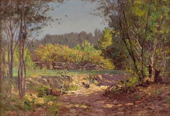 Paisaje 11 de Theodore Clement Steele (1847-1926, United States)