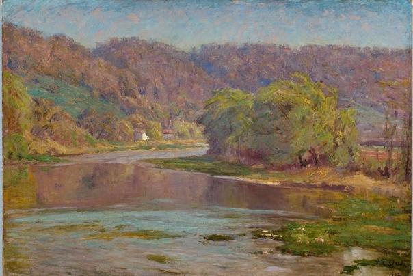 el río valle de Theodore Clement Steele (1847-1926, United States)