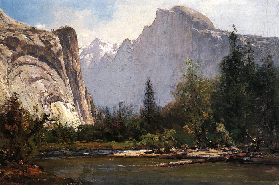 Royal Arcos y Half Dome, Yosemite de Thomas Hill (1829-1908, United Kingdom)