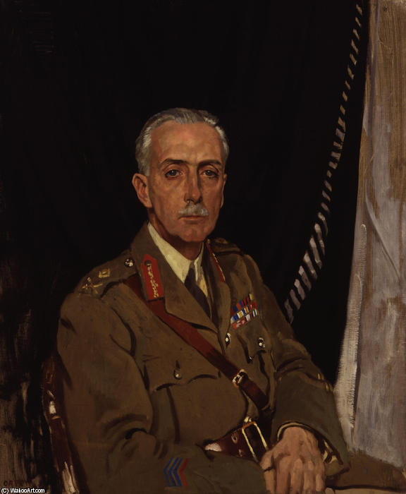 Cuarto Charles Sackville West Baron Sackville de William Newenham Montague Orpen (1878-1931, Ireland)