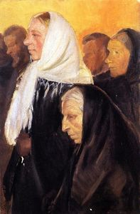 Anna Kirstine Ancher - Los feligreses
