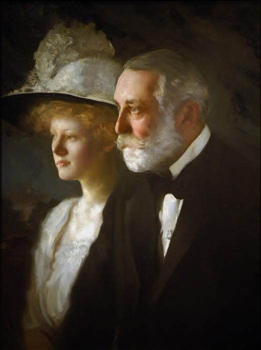 Clay Frick con su hija, Helen Clay Frick, 1910 de Edmund Charles Tarbell (1862-1938, United States)
