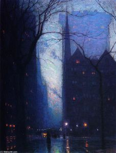 Lowell Birge Harrison - Fifth Avenue en el crepúsculo
