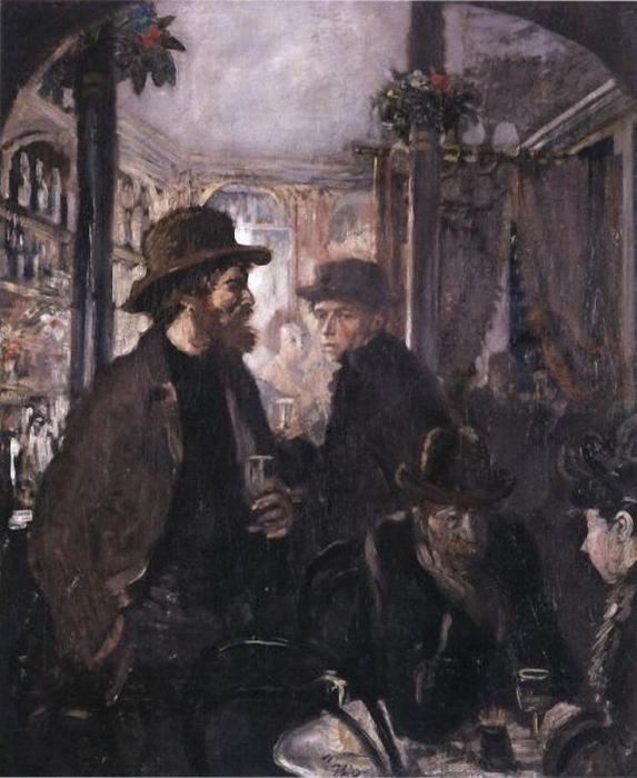 En el bar de William Newenham Montague Orpen (1878-1931, Ireland) | Reproducciones De Calidad Del Museo | ArtsDot.com