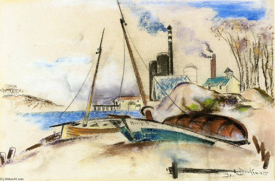 paisaje de la isla, 1930 de William Preston Dickinson (1889-1930, United States) | ArtsDot.com