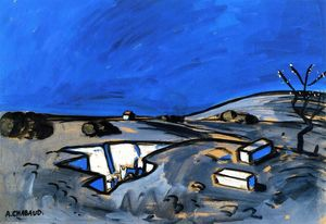 Auguste Chabaud - paisaje del azul