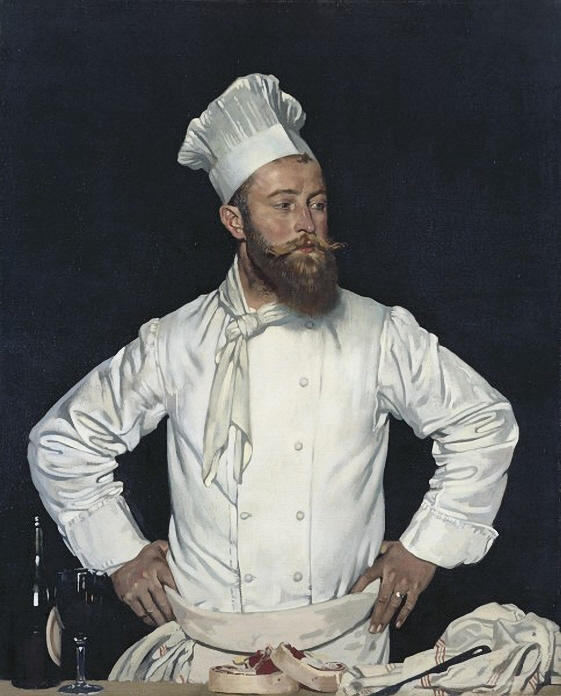Le Chef de l Hôtel de Chatham, París, óleo sobre lienzo de William Newenham Montague Orpen (1878-1931, Ireland)