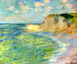 Claude Monet - Acantilados en Amont