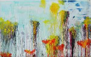 Cy Twombly - Lepanto , el panel 7