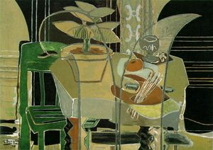 Georges Braque - Interior con Paleta