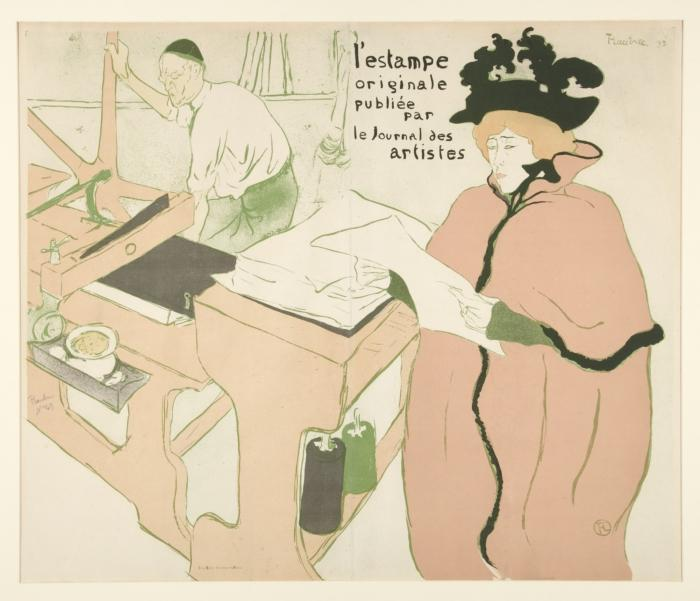 coverage` de impresión original, 1893 de Henri De Toulouse Lautrec (1864-1901, France)