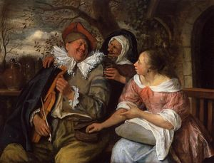 Jan Steen - Feliz Threesom