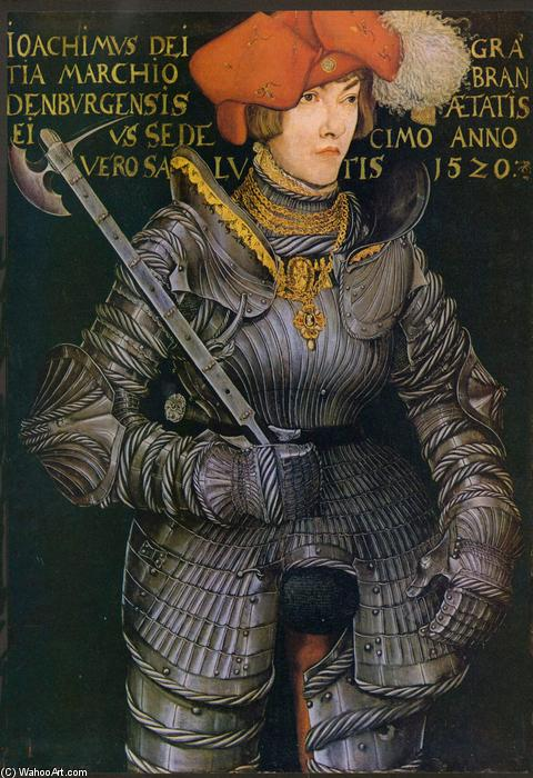 Retrato de Joachim II, óleo de Lucas Cranach The Elder (1472-1553, Germany)
