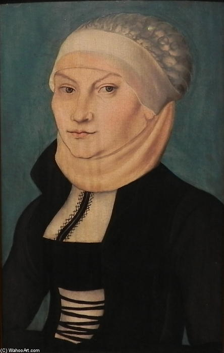 Katharina von Bora, 1528 de Lucas Cranach The Elder (1472-1553, Germany)