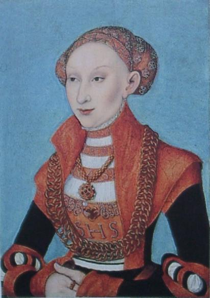 Sibylle von Kleve, 1531 de Lucas Cranach The Elder (1472-1553, Germany)