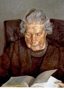 Lucian Freud - el `painter's` madre leye..