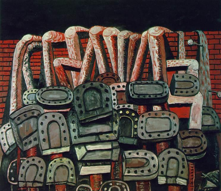 antiguo pared, 1976 de Philip Guston (1913-1980, Canada)