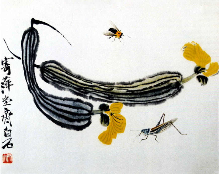 Melones largas de Qi Baishi (1864-1957, China)