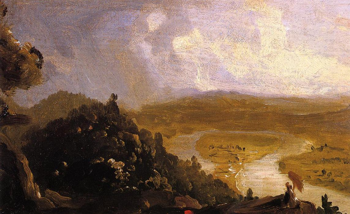 Boceto para el Oxbow, 1836 de Thomas Cole (1801-1848, United Kingdom)