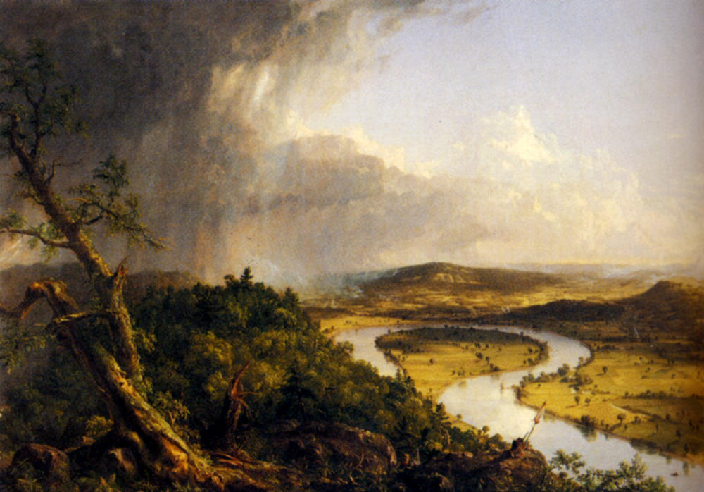 El Oxbow (el río Connecticut cerca de Northampton), óleo sobre lienzo de Thomas Cole (1801-1848, United Kingdom)