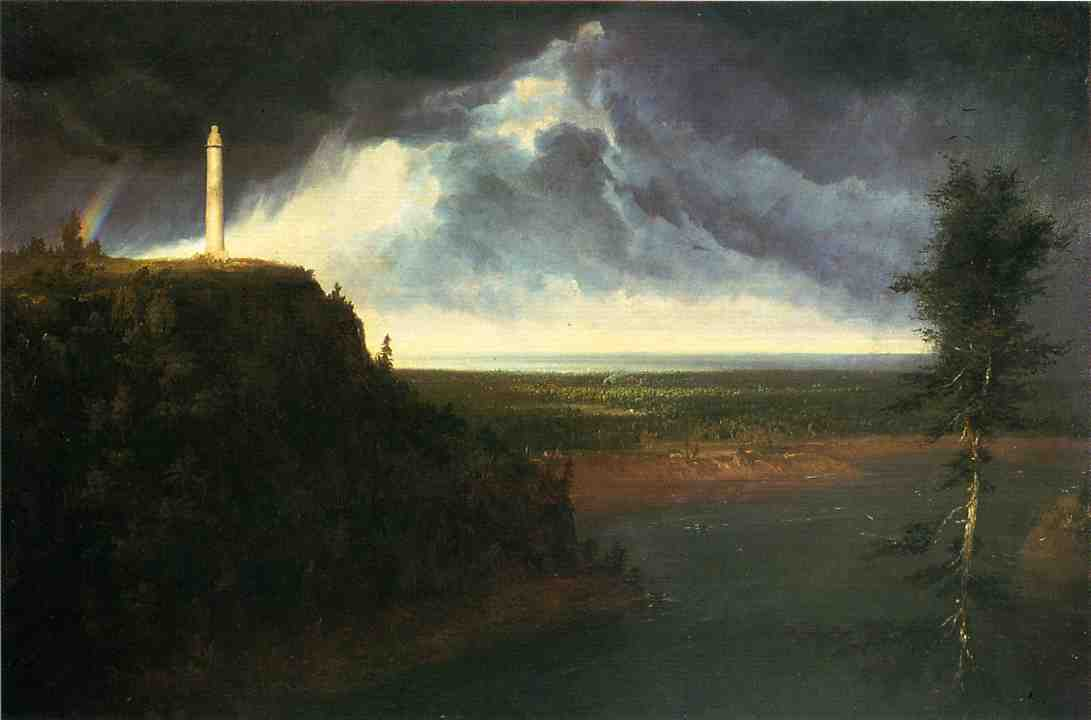 Brock`s-Monument, óleo sobre lienzo de Thomas Cole (1801-1848, United Kingdom)