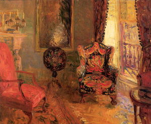 William James Glackens - Veintitrés Quinta Avenida, Interior