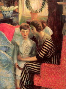 William James Glackens - La esposa y el hijo del artista