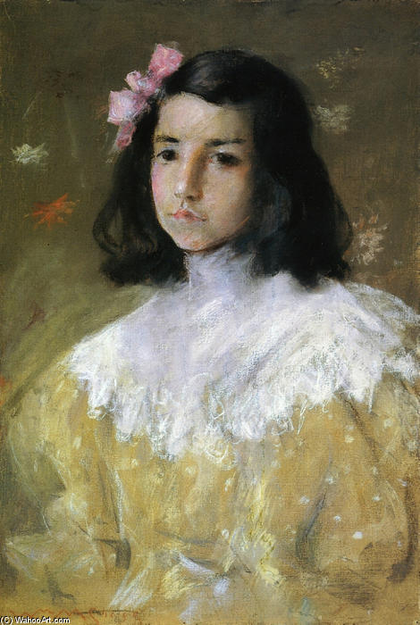 El arco rosado, pastel de William Merritt Chase (1849-1916, United States)
