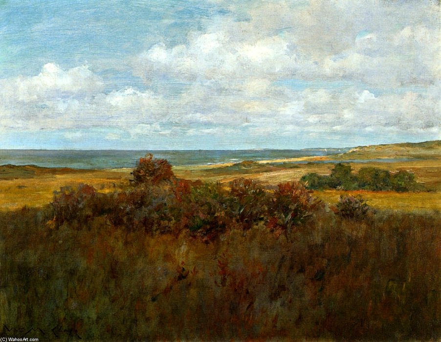 Shinnecock Paisaje 04, óleo sobre lienzo de William Merritt Chase (1849-1916, United States)