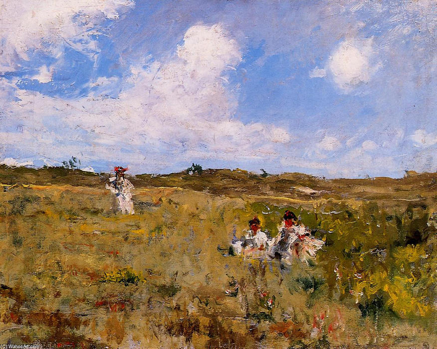 Shinnecock Paisaje 03, óleo sobre lienzo de William Merritt Chase (1849-1916, United States)